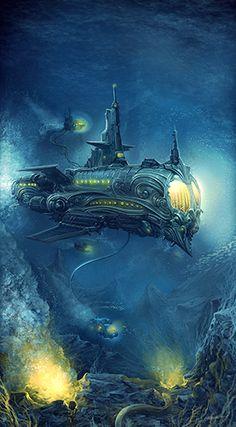 68 Best Drawing Submarine Images Underwater Jules Verne Dieselpunk