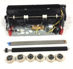 """40X0100-FRN Maintenance Kit t64x x64x Factory Rebuilt With Oem Parts  CONTAINS: fuser 40X2592, double charge roller 40X0127, transfer roller 40X0130, 3 pick tire kits 40X0070 (2 per kit). Order this when you see error message """"scheduled 80 maintenance."""" Best value for pharmacy label applications."""