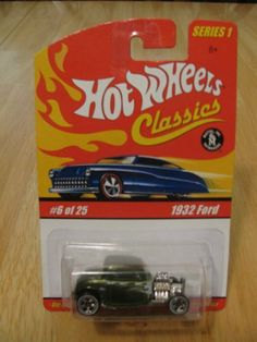 Hot Wheels Classics Series 1 - 1932 FORD #6 of 25 by Mattel. $3.47. Hot Wheels Classics Series 1 - 1932 Ford #6 of 25. Color is Metallic Olive Green. Die Cast body & chassis. Special Paint. Limited Edition. You will receive the exact item pictured. HW12