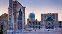 Le Registan, monument emblématique de Samarkand. Ici, la madrasa Plug Beg - le savant petit-fils de Tamerlan. Photo: Eric Martin
