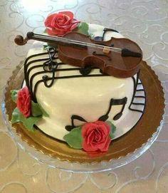 www.cakecoachonline.com - sharing....Violin cake