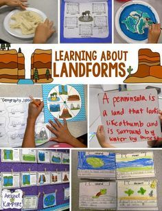 Learning About Landforms ~As a culminating project we made salt dough islands complete with several landforms then wrote creative narratives about life, people, weather, and jobs on our islands as well as postcards home!. Such a great way to get my kids writing about science!