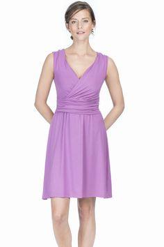 Lilla P Shirred Waist Dress in mulberry