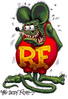 """Always loved Ed """"Bid Daddy"""" Roth and his Rat Fink character. Tattoo in this style please."""