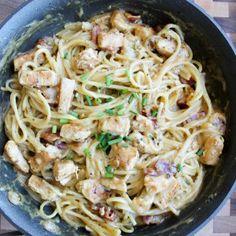 Chicken Bacon Ranch Spaghetti