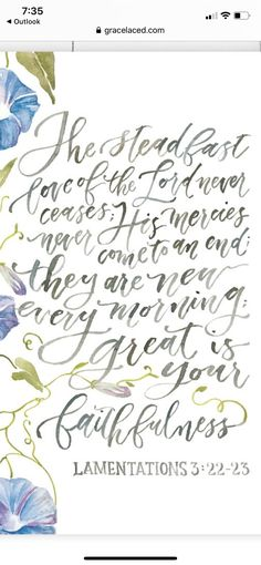 Lamentations 3 22 23, Godly Quotes, Quotes About God, Faith Quotes, Devotional Quotes