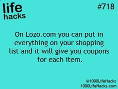 1000 Life Hacks: this is awesome it's customized to your shopping list and sends to your email for easy printing.