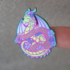 Plant Dragon Enamel Pin in 2020 Victorian Dollhouse, Jacket Pins, Reborn, Cool Pins, Metal Pins, Pin And Patches, Pin Badges, Ruby Lane, Lapel Pins