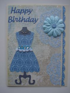 More fun with my Stampin Up dress die and sponging white doilies.