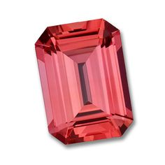 8x6mm Octagon Emerald Cut Gem Quality Chatham-Created Cultured Padparadscha Orange Sapphire Weighs 1.80-2.20 Ct.