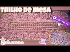 Trilho de mesa em crochê ❤️ fácil e econômico 1/2 - YouTube Crochet Mandala, Crochet Top, Crochet For Beginners, Table Runners, Diy And Crafts, Youtube, Pattern, 1, Crochet Table Runner