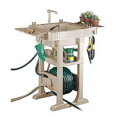 The No Crank Hose Reel With Sink Station Is Great For