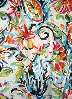 Perfect for light use upholstery, drapery, top of the bed or any home dé Paisley Pattern, Paisley Design, Colorful Shower Curtain, Shabby Chic Colors, Powder Room Wallpaper, Tropical Fabric, Colourful Living Room, Curtain Material, Home Decor Fabric