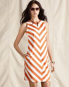#chevron summer dress in #tangerine  http://cdn.sheknows.com/articles/2012/06/best-ways-to-wear-chevron-dress.jpg