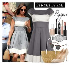 """Pippa Street Style"" by polygirl06 ❤ liked on Polyvore featuring H&M, Muuñ, Manolo Blahnik, FOSSIL, Essie, NARS Cosmetics, Ilia, Rouge Bunny Rouge, StreetStyle and StreetChic"