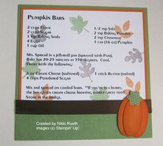 Laurie's Stampin' Spot: Stampin Up Recipe Swap #4