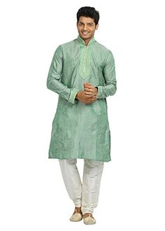 Saris and Things Aquamarine Cotton Linen Indian Wedding Kurta Pajama for Men - 42 Saris and Things http://www.amazon.com/dp/B00XCZKEQA/ref=cm_sw_r_pi_dp_TGWexb1WBH4XD