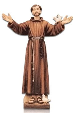 The Saint Francis of Assisi with Dove Fiberglass Statue is made from fiberglass and purred into a solid form. Once the statue has hardened they are hand painted. The statue is made for indoor and outdoors. They are made in Italy by some of the finest fiberglass experts in the World. The color finish is wonderful and has a magnificent shine.