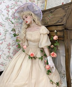 Lost Angel -Afuluoditei- Long Version Lolita OP Dress Romantic Outfit, Romantic Clothing, Lolita Dress, Angel, Lost, Clothes, Sweet, Dresses, Fashion