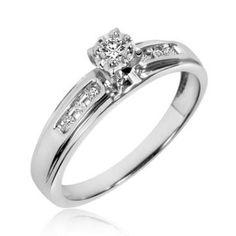 https://ariani-shop.com/1-8-carat-tw-round-cut-diamond-ladies-engagement-ring-10k-white-gold 1/8 Carat T.W. Round Cut Diamond Ladies Engagement Ring 10K White Gold