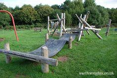 Play area wobbly walkway