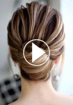Easy Hair Bun Tutorial #easyhair Easy Hair Bun Tutorial (Youtube video) #easyhairstylesforlonghair