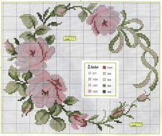 Lavores da Ana Paula: rosas - Naperons