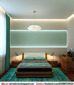 DORMITORIOS MATRIMONIALES EN COLOR TURQUESA : Dormitorios: Fotos de dormitorios Imágenes de habitaciones y recámaras, Diseño y Decoración