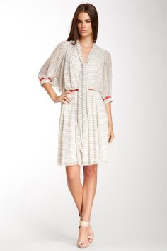 Self-Tie Shirt Dress