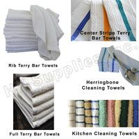 100% Cotton White Terry Towel Mop used for all type of  cleaning needs for #Restaurants, #Bars & #CoffeeShops