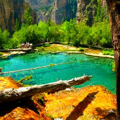 Hanging lake Colorado.  been here, but would love to go back.