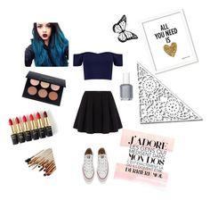 """Black!!!! Black!!!! Black!!!!<3"" by maria-matilde-ibsen on Polyvore featuring beauty, Polo Ralph Lauren, Converse, L'Oréal Paris and Essie"