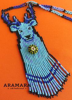 Corte mexicana Huichol cuentas ciervos y Peyote Huicholes de Etsy, Deer, Product Display, Beads