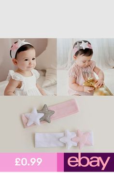 Clothing, Shoes & Accessories Aggressive Baby Toddler Girls Pink Floral Bowknot Hairband Turban Headband A Great Variety Of Models Hair Accessories