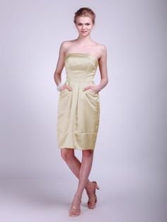 Strapless Satin Bridesmaid Dress