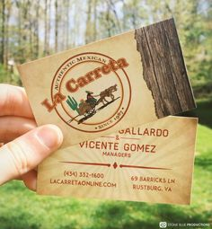 Ad for lynchburg virginias love is in the air cateringevent rustic themed business cards for mexican restaurant reheart Gallery