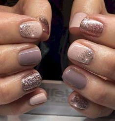 "Nail Trends to Try in 2018 The cool thing about accent nails is that you don't need a design on every finger. Try adding black accents on all ten nails or compliment one or two. ""It can be tricky incorporating black accents to nails,"" saysA base of silver Hair And Nails, My Nails, Summer Shellac Nails, Spring Nails, No Chip Nails, Emoji Nails, Summer Toenails, Jamberry Nails, Nagel Blog"