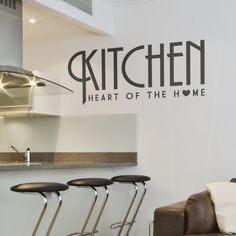 Adding highly appealing wall decals on the kitchen wall can improve your appetite or could spice up your day as you enjoy a sumptuous meal with your family and loved ones.