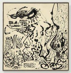 "Jackson Pollock (1912-1956)  Number 5, 1951 ""Elegant Lady"""