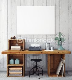 Stock-Foto : 3D illustration of poster frame template, workspace mock up
