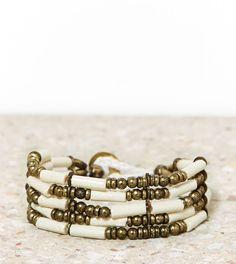 AEO Beaded Brass Bracelet
