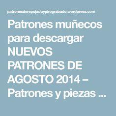 Patrones muñecos para descargar NUEVOS PATRONES DE AGOSTO 2014 – Patrones y piezas de Repujado en aluminio y pirograbado