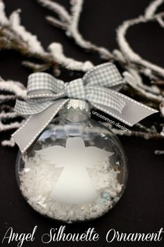 Handmade Silhouette Angel Ornament  #Ornaments  #Christmas