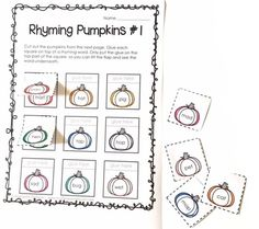FREE Rhyming Pumpkin