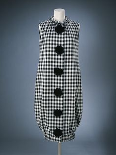 1956, England - Wool ensemble (dress, hat & shoes) by Mary Quant