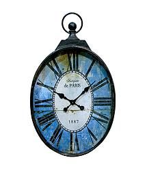 Blue Round Iron Clock - $174.99