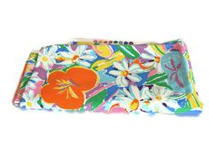 Ken Don Palm Beach Fabric By Sheridan - Vintage Retro Material - Bright Funky Flowers Collectable Craft Supplies by FunkyKoala on Etsy