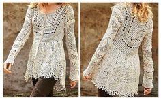 Elegante chaqueta de crochet