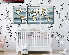 Wall Art For Nursery Bathroom Decor Home Decor by FMDesignStudio