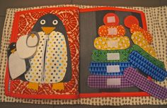 penguin and matching quiet book page